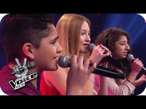 Christina Aguilera – Beautiful (Renaz, Soufjan, Pia) | The Voice Kids 2014 | BATTLE | SAT.1