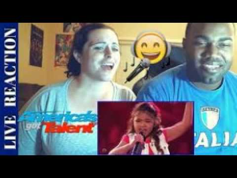 9 year old angelica hale [ earns golden buzzer [ America's Got Talent 2017 [ jessica hale ]