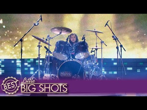 Young Eduarda Is a Drum Queen! | Best Little Big Shots